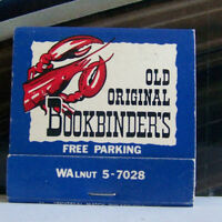 Rare Vintage Matchbook Cover D2 Bookbinder's Philadelphia Pennsylvania Lobster