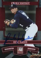 2010 Donruss Elite RICK HAGUE Signed Card autograph NATIONALS RICE OWLS