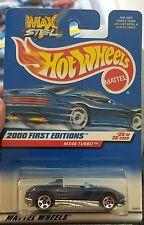 2000 Hot Wheels #80 Blue Mazda MX48 Turbo with 5 Spoke Wheels