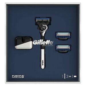 Gillette FUSION 5 PROGLIDE Limited Edition Razor, Stand & Refill Blades Gift Set