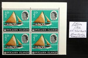 "PITCAIRN ISLANDS 1964 - ½d ""Diadem"" As Described Block of 4 U/M NL661"