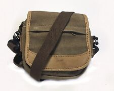 L.L. Bean Vintage Canvas Small Cross Body Bag Unisex Built In Wallet Small USA