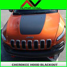 Jeep Cherokee KL Hood Decal trailhawk blackout Matte Black vinyl Fits: 2014-18