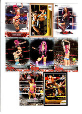 Sasha Banks Wrestling Lot of 8 Different Trading Cards 2 Inserts WWE NXT SB-E1