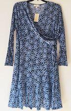 MICHAEL Michael Kors Plus Size Jewel-Print Flounced Wrap Dress. Size 1X.