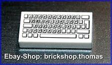 Lego Tastatur (1 x 2) weiß - 3069bpb030 - Computer Keyboard Tile - NEU / NEW