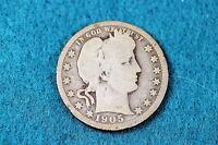 Estate Find 1905-P BARBER Quarter  Dollar!! #TO
