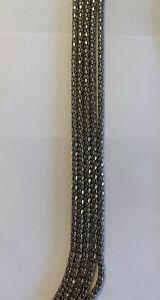 """R J GRAZIANO  Silver Tone 5 Chain Long Necklace- 40"""""""