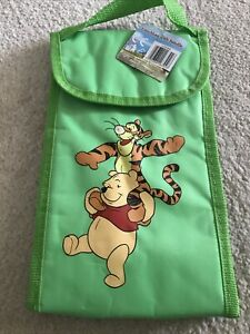 Disney Winnie The Pooh Insulated Lunch Snack Bag Green