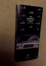 1997 Mercedes Benz Salesman Dealer Training Book Brochure W140 R129 S SL Class