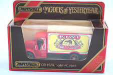 Matchbox of Yesteryear No:Y-30 1920 AC MACK Truck in KIWI BOOT POLISH MIB