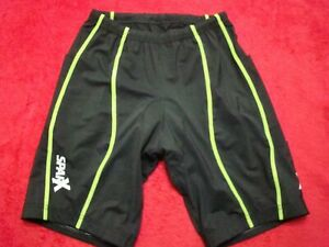 Sparx Mens Size 2XL Triathlon Black Neon Green Cycling Shorts