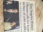 LA Times Obama Wins Newspaper 1/21/09