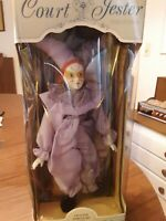 """Court Jester Collection Porcelin Doll Large 18"""" NEW IN BOX."""