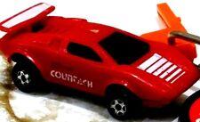 Vintage Kidco 1980 Burnin Key Cars Red Lamborghini Countach with LAUNCH Key 1/64
