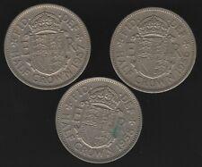 More details for 1956-1958 elizabeth ii half crown coins date run | bulk coins | pennies2pounds