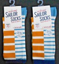 2 Pares de Calcetines de Bambú para mujer Sailor Seasalt Talla 3-8 Reino Unido 36-42 Bretón Arenisca