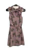 White House Black Market Women's Pink/Lavender/Flora Dress Size 2P