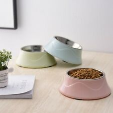 Non-slip Base Stainless Steel Easy Clean Feeding Dishes Double Layer Pet Bowls