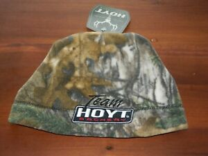 Team Hoyt Fleece Beanie Hat- Camo Reversible to Orange- Hunting Hat