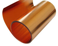 "Copper Sheet 8 mil/ 32 gauge metal foil roll 6"" X 4' CU110 ASTM B-152"