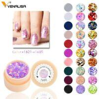 Venalilsa 5ml Pure Colour Soak OFF UV LED Gel Nail Polish Lacquer Varnish Pot 1p