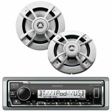 Kenwood PKG-MR328BT Marine CD Receiver and 2 Way Speakers