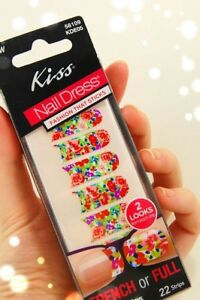 Kiss Nail Dress French Full Styles 40 Strips-per-Box-U-Pick-Design Stickers New