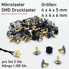 Drucktaster SMD, Metall Taster, Micro Flach Kurzhub, PS4 Modding, Ps4 Scuf Umbau