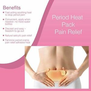 Feminine period cramp pain relief adhesive heat pads