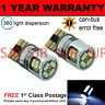 2X W5W T10 501 Canbus sin Errores Blanco 10 SMD LED Repetidor Lateral Bombillas