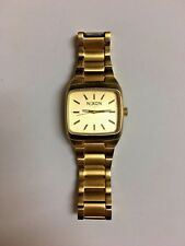 Men's Nixon The Manual II Watch Gold Tone