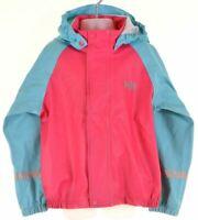 HELLY HANSEN Girls Waterproof Jacket 5-6 Years Pink Polyester  GU15