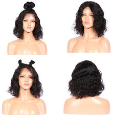 Brazilian Remy Fluffy Short Curly Wave Lace Frontal Synthetic Hair Wig Fa BLSS