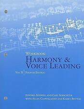 Harmony and Voice Leading Vol. 2 by Allen Cadwallader, Edward Aldwell and Carl S