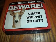 Beware Guard Whippet On Duty Magnet - West Highland Terrier