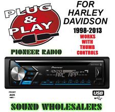 PLUG&PLAY FOR HARLEY PIONEER DETACH FACE CD USB AUX RADIO STEREO CD ADAPTER KIT