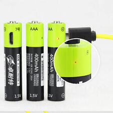 4pcs ZNTER 1.5V AAA 400mAh LiPo li-ion lithium rechargeable battery USB charging