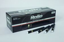 200 ROLLO Eclipse Premium Black Cigarrette Tubes + FREE INJECTOR