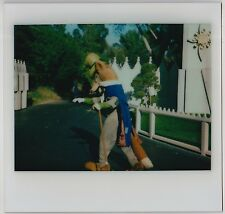 VINTAGE 70s Kodak Instant Film PHOTO Honest John Character At Disneyland