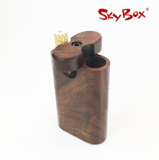 Compact Stash Box - Walnut dugout with Small Cigarette Style Pipe