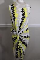 Diane von Furstenberg Alastrina Wave-Print Stretch Silk Dress Size 10 (DR800
