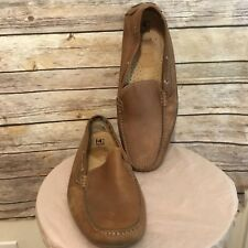 14th and Union Brown Leather Driving Casual Loafer Moccasin Shoes Men's 16 M