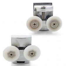 Set of 4 Double Shower Door Rollers/Wheels Top and Bottom 23mm or 25mm L054