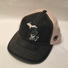 Michigan State Hat  Snapback Vented Nylon Top of the World Black / Beige