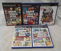 Grand Theft Auto x 5, with manuals, 3 with maps (Sony PlayStation 2 bundle)