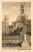 Madrid Spain La Cibeles y Casa de Correos Postcard