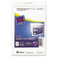 Avery Print Or Write Removable Rectangular Labels - 05434