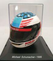 1/5 CASCO MICHAEL SCHUMACHER 1995 HELMET COLECCION F1 FORMULA 1 A ESCALA
