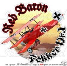 FOKKER Dr.I Triplane RED BARON Manfred von Richthofen German Ace WW1 Sticker